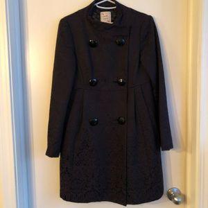 Nanette Lenore Coat, size 2, purple and black